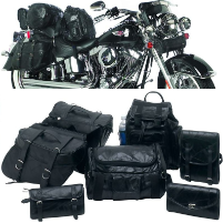 7 pc Leather Motorcycle Luggage Set
