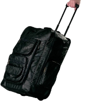 Leather Deluxe Backpack Rolling Cart
