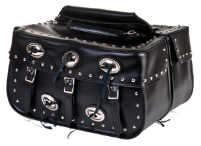 Motorcycle Saddlebags with Conchos