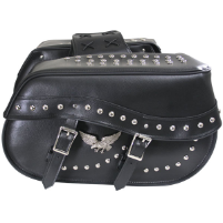 Motorcycle Saddlebags with Eagle Emblem