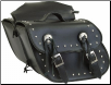PVC Motorcycle Saddlebag w/Studs