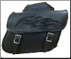 Motorcycle  Saddlebags with Flame