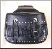 PVC Zip Off Motorcyle Saddlebag w/ Velcro Cover & Lock