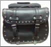 PVC Motorcycle Saddlebag w/Zip Off And Studs